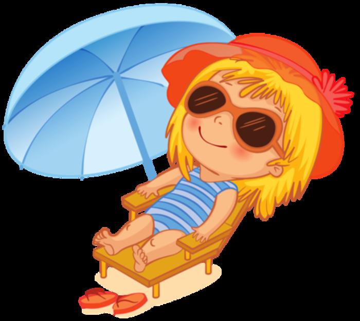 Прикольные, лето картинки для детей на прозрачном фоне